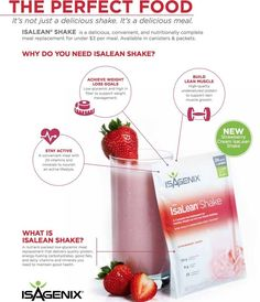 A balanced 240-calorie, meal replacement clinically shown to support healthy weight loss and lean muscle growth with 24 g of high-quality protein.  23 vitamins and minerals Protein, energy-fueling carbs, and good fats High-fiber content and active enzymes aid digestion