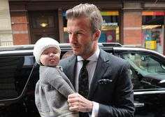 Say cheese! David Beckham's Daughter Sticks Her Tongue Out at the Paparazzi!