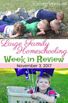 What does a typical large family homeschool week look like? This week we celebrated, did crafts, and had company.  Come see our week! via @amyraisingarrows