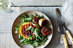 Grilled scallops and