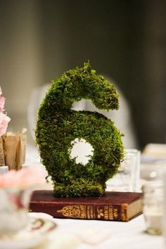 Moss decor ideas rustic moss wedding table number centerpiece moss decor ideas for a nature wedding Forest Wedding, Woodland Wedding, Diy Wedding, Wedding Reception, Rustic Wedding, Wedding Flowers, Wedding Ideas, Wedding Themes, Trendy Wedding