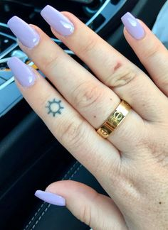 purple tapered square nails & cartier
