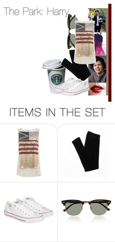 """""""Park with Harry"""" by dressingupwith1d ❤ liked on Polyvore featuring art, one direction, harry styles and harry"""