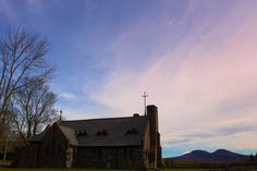 "The ""All Souls Church"" looking over the Catskill Mountains. (Tannersville, NY).  --     October 13, 2012."