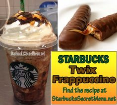 Mmm Starbucks Twix Frappuccino for all the chocolate lovers! #StarbucksSecretMenu Recipe here: http://starbuckssecretmenu.net/starbucks-secret-menu-caramel-cookie-bar-frappuccino/
