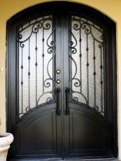 Art in Ferro - Herrería Burglary Proof, Iron Gates, Container House, Steel Doors, Metal Doors Exterior, Wrought Iron Decor, Metal Door, Iron Decor, Doors Interior