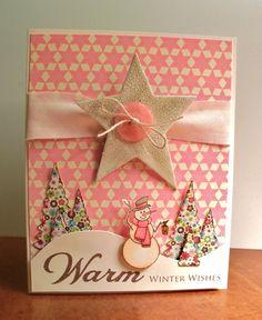 snowman and star card.