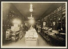 """Hardy's Bookstore, Oakland (circa 1920) Once located on Broadway between 9th and 10th (""""Delger Block""""), it was northern California's first major bookstore. Courtesy of the California Public Library."""