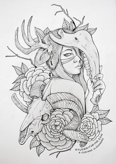 thigh tattoo sketch idea