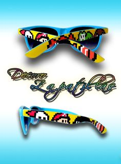 22c09f3b59 Super Mario pixel custom sunglasses wayfarers by DecoroZapatillas