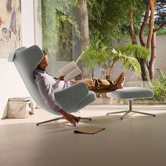 Sessel Grand Repos Stoff, grau Source by The post Sessel Grand Repos Stoff, grau appeared first on W Modern Interior Design, Interior Design Inspiration, Contemporary Recliners, Home Decoracion, Pebble Grey, Lounge Chair Design, Single Chair, Eames Chairs, Lounge Chairs
