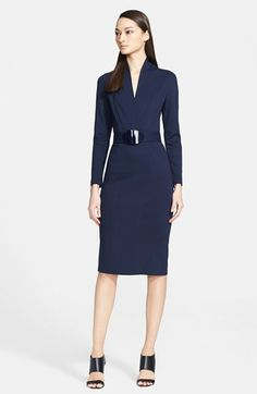 Armani Collezioni Milano Jersey Dress with Belt available at #Nordstrom