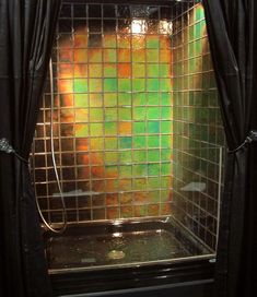 "Are you old enough to remember ""mood rings""? Then you'll love these heat sensitive tiles in your shower by Moving Color. Walk Through Shower, Best Bath, Interior Decorating, Interior Design, Glass Texture, Design Your Home, Color Tile, Home Office Decor, Recycled Glass"
