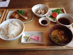 Lunch at cafe in Aoyama