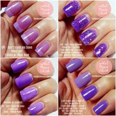 OPI - Don't Violet Me down - Sheer tint review