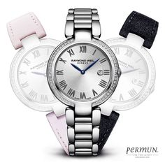Raymond Weil Women's Swiss Shine Stainless Steel Bracelet Watch with Interchangeable Repetto Leather Strap Set Foot Bracelet, Bracelet Cuir, Bracelet Watch, Stainless Steel Bracelet, Stainless Steel Case, Repetto, Raymond Weil, Cuir Rose, Luxury Watches