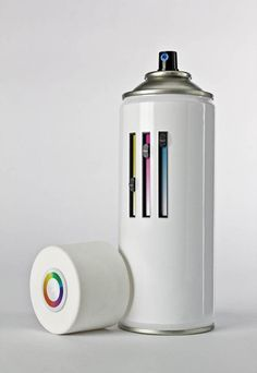 All in One Spray Can – The spray paint concept that changes color. Rembr I had some pens like this, they s*ckt. But still cool
