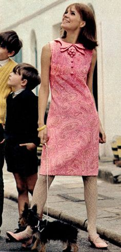 1960s Paisley Pink
