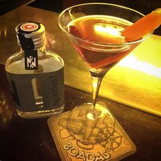 Great #martinez with Gin finished Cask Vermouth by @nginious with @adalmarquezbartender spot @boadascocktails