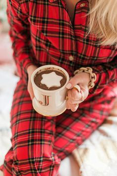 Christmas Traditions in Plaid J.Crew Pajamas.