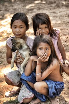 While on a bike trek, saw these lovely children along the side of a rural road outside Angkor Wat Cambodia.