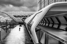 City Fine Art Photo: Canary Wharf, Street, Fine Art Black and White Photo from London City by LongExposureLondon on Etsy