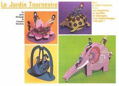 jeunes années N°16, juin 1975, Jeux de papier manège, Vintage, paper toys