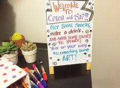 Color & sip party