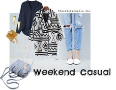 Weekend Casual by sarahcredman featuring a layered necklace I am currently loving my vintage Levis. I'm a lucky bunny - I didn't have to fork out a fortune for mine, I have a very generous d...