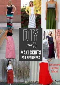 DIY maxi skirt tutorials - perfect for beginners!