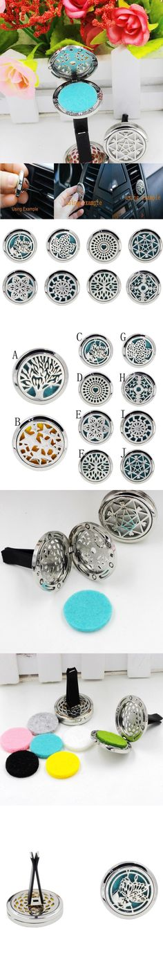 AUTO Car-styling 10 Style Stainless Car Air Vent Freshener Essential Oil Diffuser Locket  july14