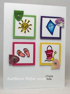 FS127 A Happy Hello kmd by defoe - Cards and Paper Crafts at Splitcoaststampers