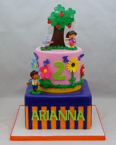 Dora & Friends Two Tier Cake