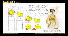 ModelistA: VERÃO 1949 Vogue Crop Top Bralet Pattern