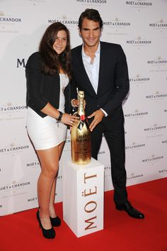 Marion Bartoli - Moet & Chandon Celebrates Its 270th Anniversary With New Global Brand Ambassador Roger Federer' in NY - August 20-2013 #WTA #Bartoli