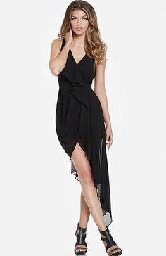 High Low Chiffon Dress in Black S - L   DAILYLOOK