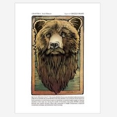 Grizzly BEARd Limited Edition Story Book Print  8 by DeadwilderArt, $30.00