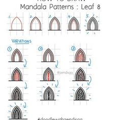 Urgh the frustration. I wrote up a really nice caption and saved it in the draft. Mandala Art Lesson, Mandala Doodle, Tangle Doodle, Mandala Dots, Mandala Drawing, Mandala Pattern, Doodle Art Designs, Doodle Patterns, Zentangle Patterns