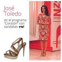 En esta ocasion es la modelo y presentadora José Toledo la que elige nuestras sandalias Exé de la nueva temporada para combinar con su vestido . ¿Quieres ver más modelos de la nueva colección?