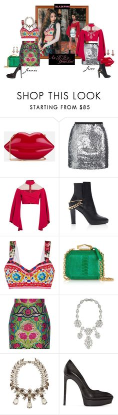"""""""Jennie & Jisoo (BLACKPINK)  – 'As If It's Your Last' Music Video."""" by foreverforbiddenromancefashion ❤ liked on Polyvore featuring Lulu Guinness, Topshop, Balmain, Lanvin, Dolce&Gabbana, Alexander McQueen, Gucci, Ben-Amun, Givenchy and Yves Saint Laurent"""