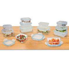 24-Piece Glass Food Storage Set with Easy Snap Lids - BedBathandBeyond.com