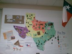 Texas region map: This is a great idea to use in our unit. We could have the whole class work together to make one region map, or even have the students work as groups in order to create one. Using symbols in each region will be helpful for students to remember what happens in each region.
