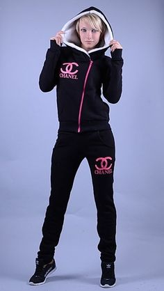 pretty neon shirts for women | Women's Sports Awesome Fleece Hoodies Tracksuit 2 Pcs sweat Suit ...