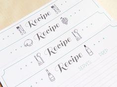 Free Recipe Card Printables // Tarjetas de recetas imprimibles