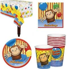 Amazon.com: Curious George Birthday Party Supplies for 16 Guests: Everything Else
