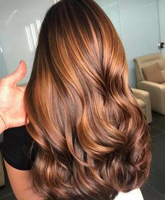 Brown Hair Balayage, Brown Blonde Hair, Brunette Hair, Copper Highlights On Brown Hair, Caramel Balayage Brunette, Sombre Hair Color, Blonde Honey, Hair Color Shades, Cool Hair Color