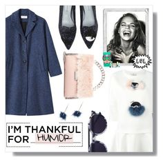 I'm Thankful For ... HUMOR by stylelibrarian on Polyvore featuring polyvore fashion style Fendi Chiara Ferragni STELLA McCARTNEY ABS by Allen Schwartz Thierry Lasry Benefit Polaroid clothing