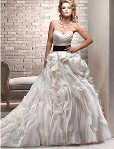 Maggie Sottero, Ms Saint Mara Organza Size 6 Wedding Dress For Sale | Still White Australia