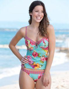 b53f634054 Beach Belle Tankini Top Curvy Swimwear
