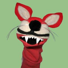 Handmade Red Fox Sock Puppet by SockHollow on Etsy
